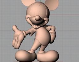 3D Sculpture Model Mickey A053