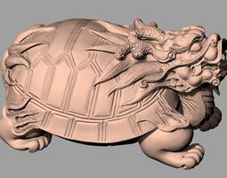 3D Animal Sculpture Model Dragon turtle A058