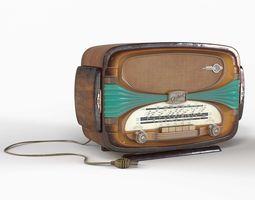 Tabletop radio Oceanic Surcouf 3D asset