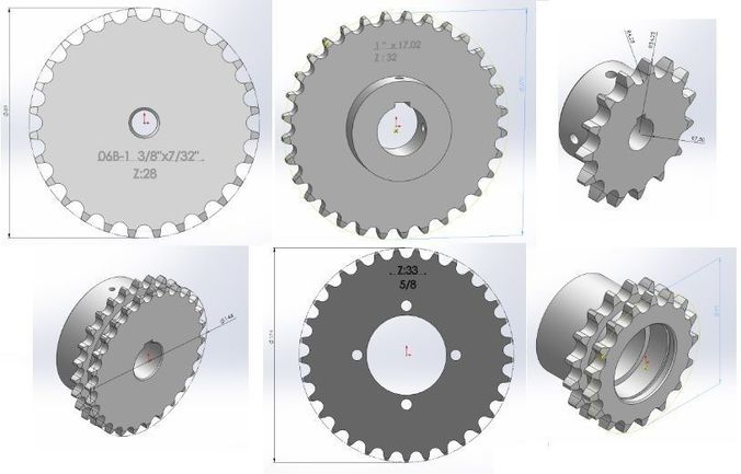 sprocket - chain teeth 3d model sldprt sldasm slddrw 1