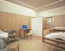 Ginecological ward medical 3D model