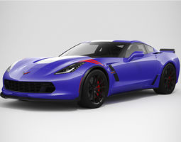 3D model Chevrolet Corvette Grand Sport 2017