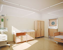 Postpartum ward 01 3D model
