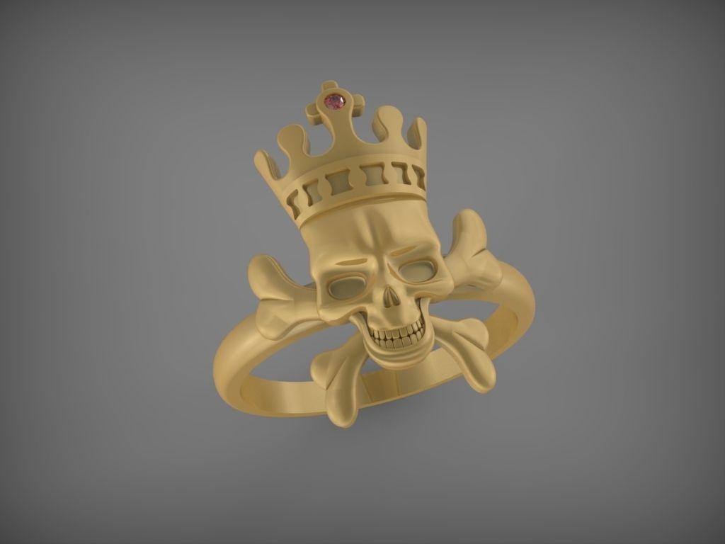 Skull Ring Stl 3d Model 3d Printable Stl