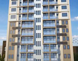 house Modern residential building 3D model