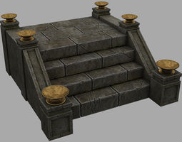 Castle Stairs 3D asset