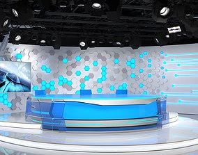 Virtual Broadcast Studio 10 3D model