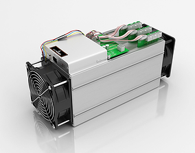 Antminer Cryptocurrency Mining 3D model