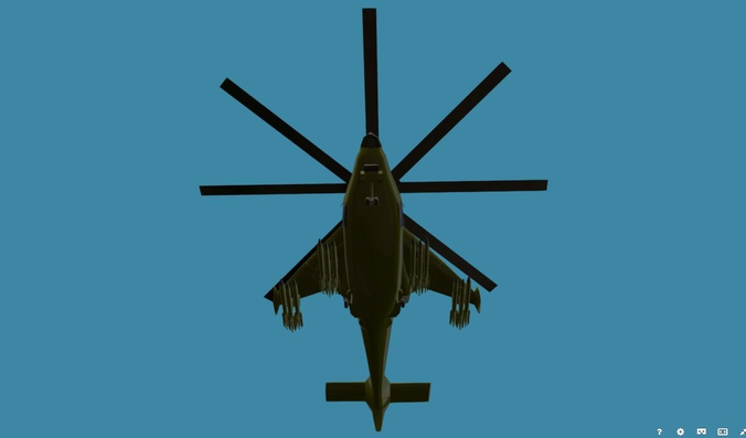 fantasy military helicopter ka-777 vrvgs-mosquito for 3d games 3d model low-poly fbx 1