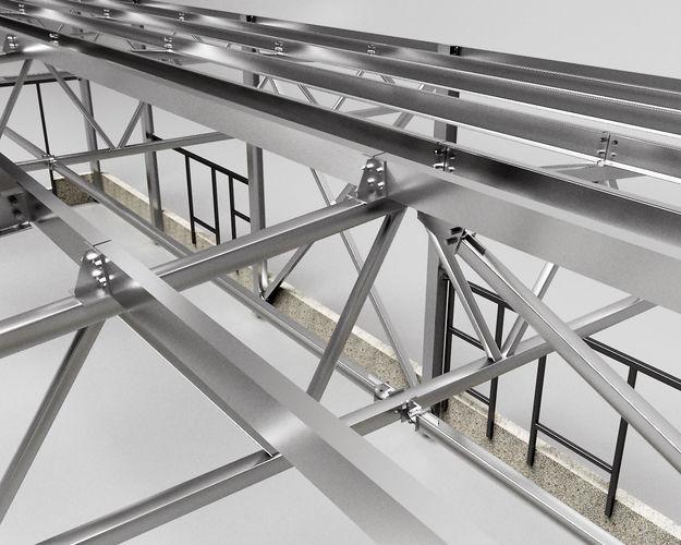 hangar industrial construction 3d model max obj mtl 3ds fbx dwg 1