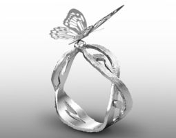 butterfly ring 3d printable model