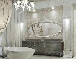 3D model Modern Luxury bathroom