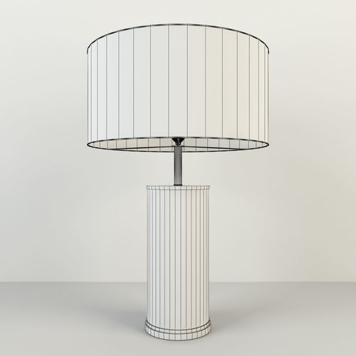 ... Rh Delano Shagreen Cylinder Table Lamp 3d Model Max Obj 7