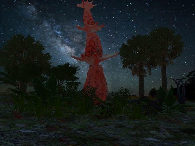 alien gourd tree 3d model obj mtl fbx dxf 1