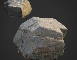 3d scanned nature stone 027 VR / AR ready