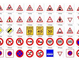 traffic signs full pack 3D