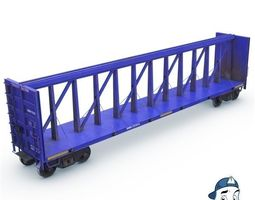 Beam Flat Car 3D asset