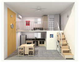 3D Single Compact Apartment