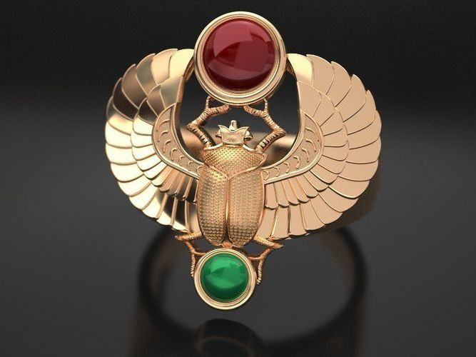 gold-scarab-bug-ring-classic-3d-model-st