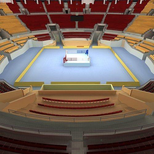 boxing arena 3d model max obj mtl fbx 1