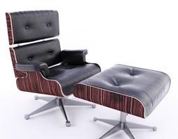 Bon Armchair VIP With Footrest 3D