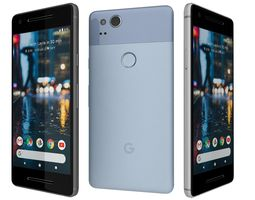 Google Pixel 2 All Colors 3D