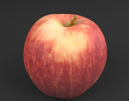 Appel Red 03 - 3D Scan Low Poly realtime