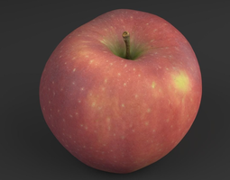 realtime Appel Red 04 - 3D Scan LowPoly