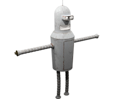 3D model Futurama - Bender old