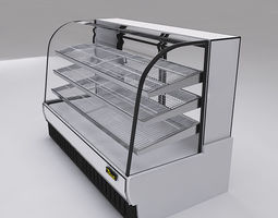 Bakery Case Display Pastry 3D model