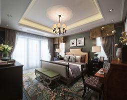 3D model Luxury European bedroom
