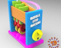 3D print model Marble Step Machine Automata Toy