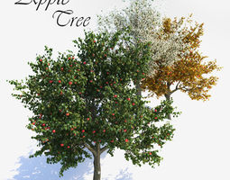 Apple Tree 1 Vray 3D model