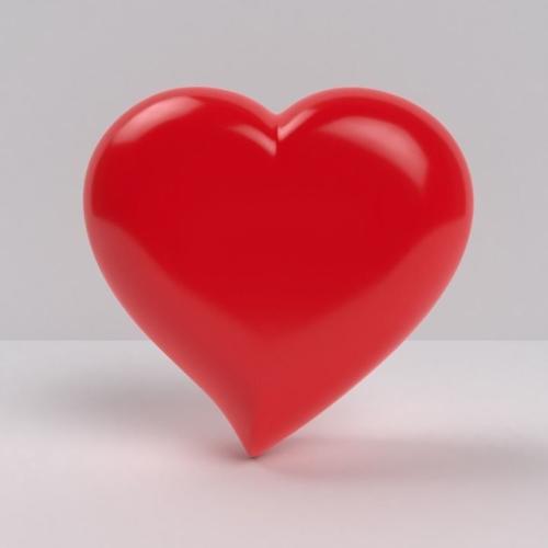 3d Asset Heart Love Shape Symbol Cgtrader