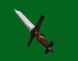 VR / AR ready Fantasy Battle Sword - Dirk for 3d games