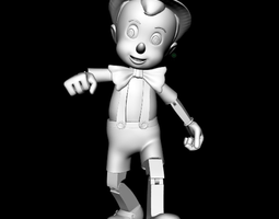 3D print model supports Pinocchio
