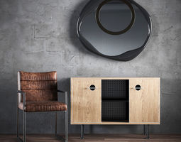 3D A set of furniture - a chair a chest of drawers a