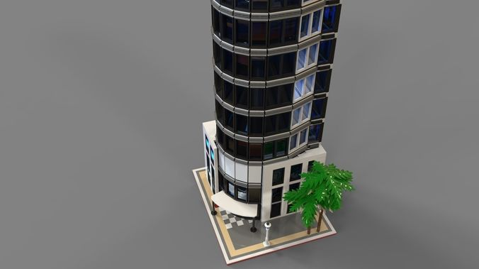 3D model Lego hotel | CGTrader
