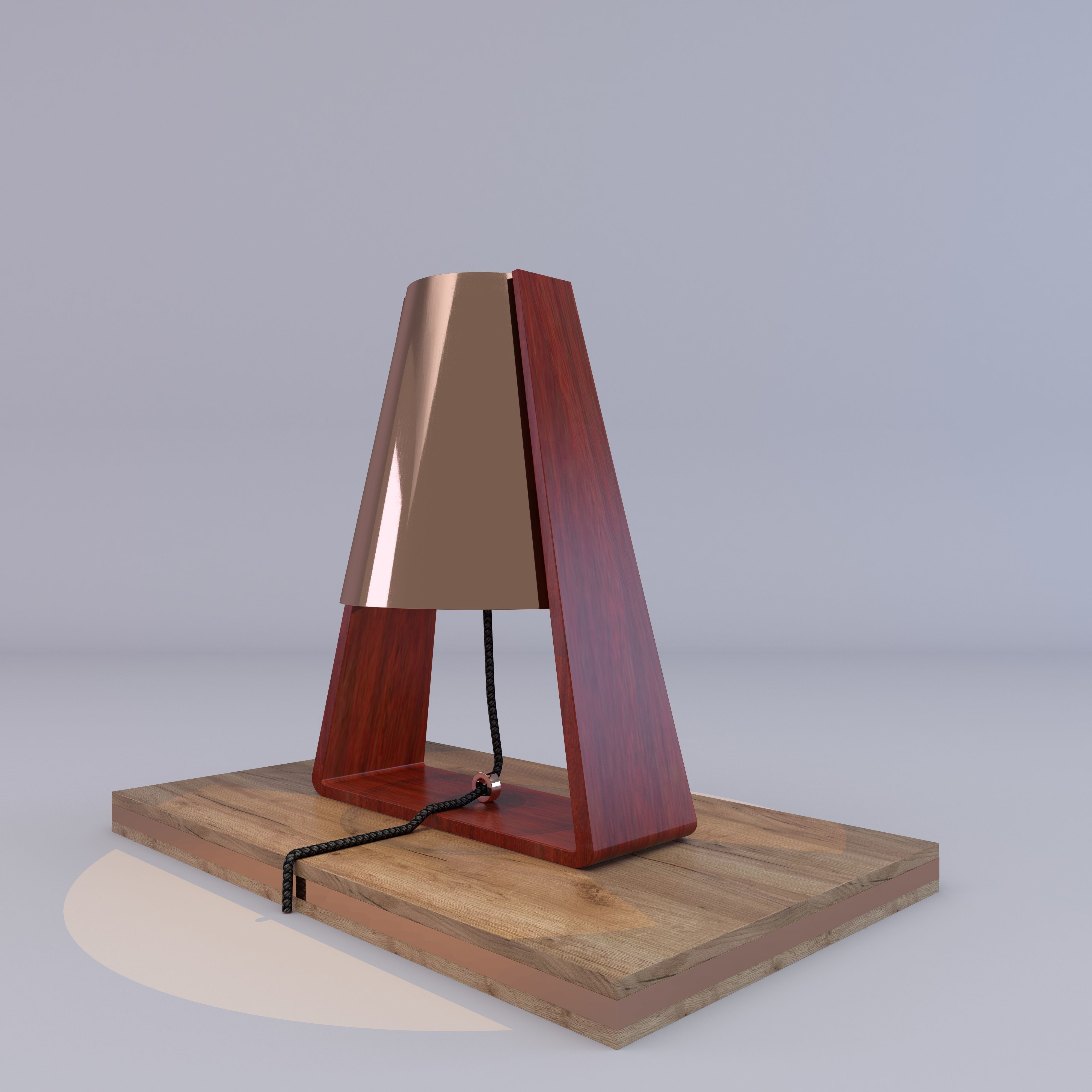3d heals bend table lamp copper cgtrader heals bend table lamp copper 3d model max fbx c4d 2 aloadofball Image collections