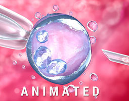Artificial insemination - glass needle fertilizing a 3D 1