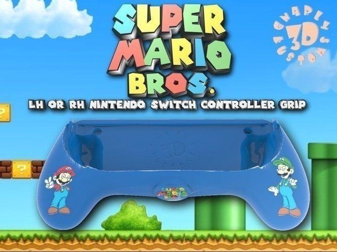 Ergonomic Super Mario Bros Joy Con Assist Grip Controller