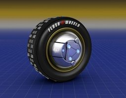 3D Flash Wheels Concept Tyre Illuminating Rim