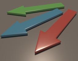 3D asset Standard straight arrow