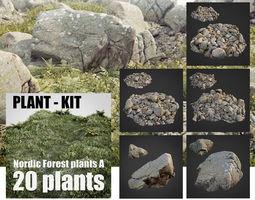 rocky nature bundle 001 3D asset