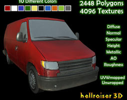 Panel Van - Clean and Dirty 10 Colors Textured 3D asset