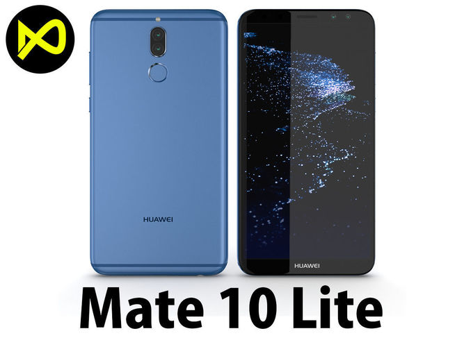super popular 01d44 7f400 Huawei Mate 10 Lite Blue | 3D model
