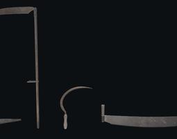 Garden tools 3D model realtime
