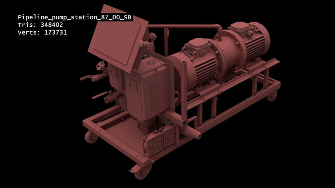 industrial pipeline machinery 87sb-model 3d model fbx 1