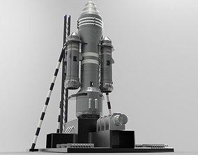 3D asset Rocket xs1 projectile