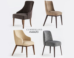 3D asset Maxalto and Cumberland chairs